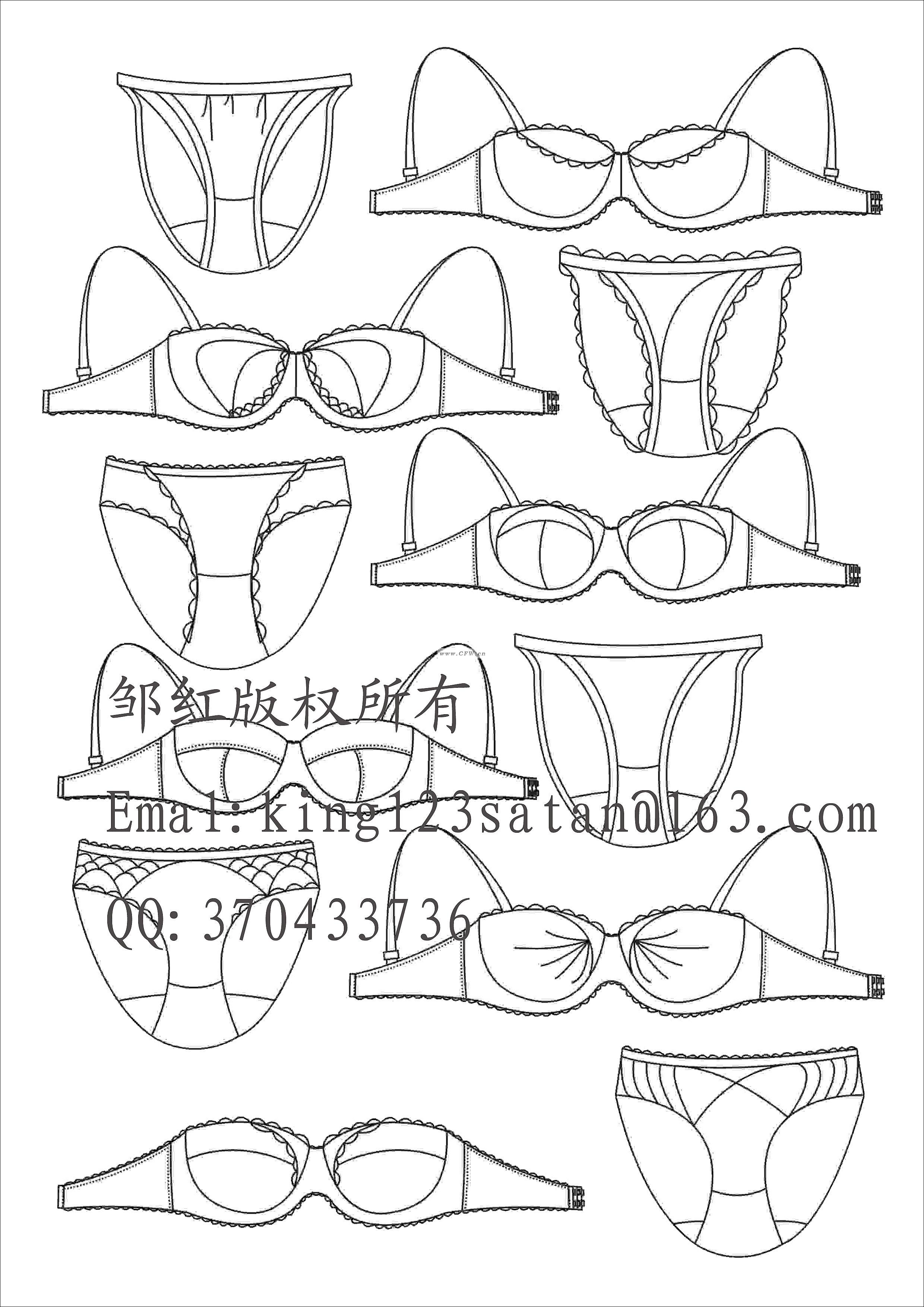 内衣作品-内衣款式图