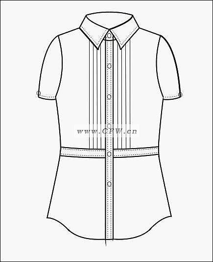 职业装款式图-职业服装设计-服装设计