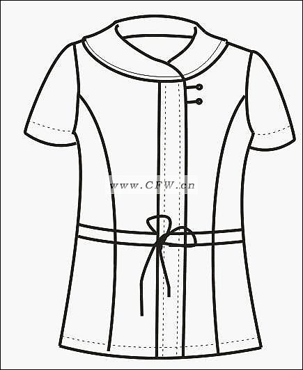 职业装款式图-女装设计-服装设计-服装设计网手机版