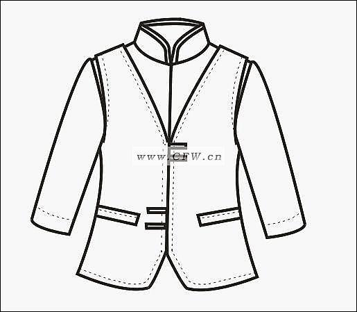 职业装款式图-职业服装设计-服装设计-服装设计网