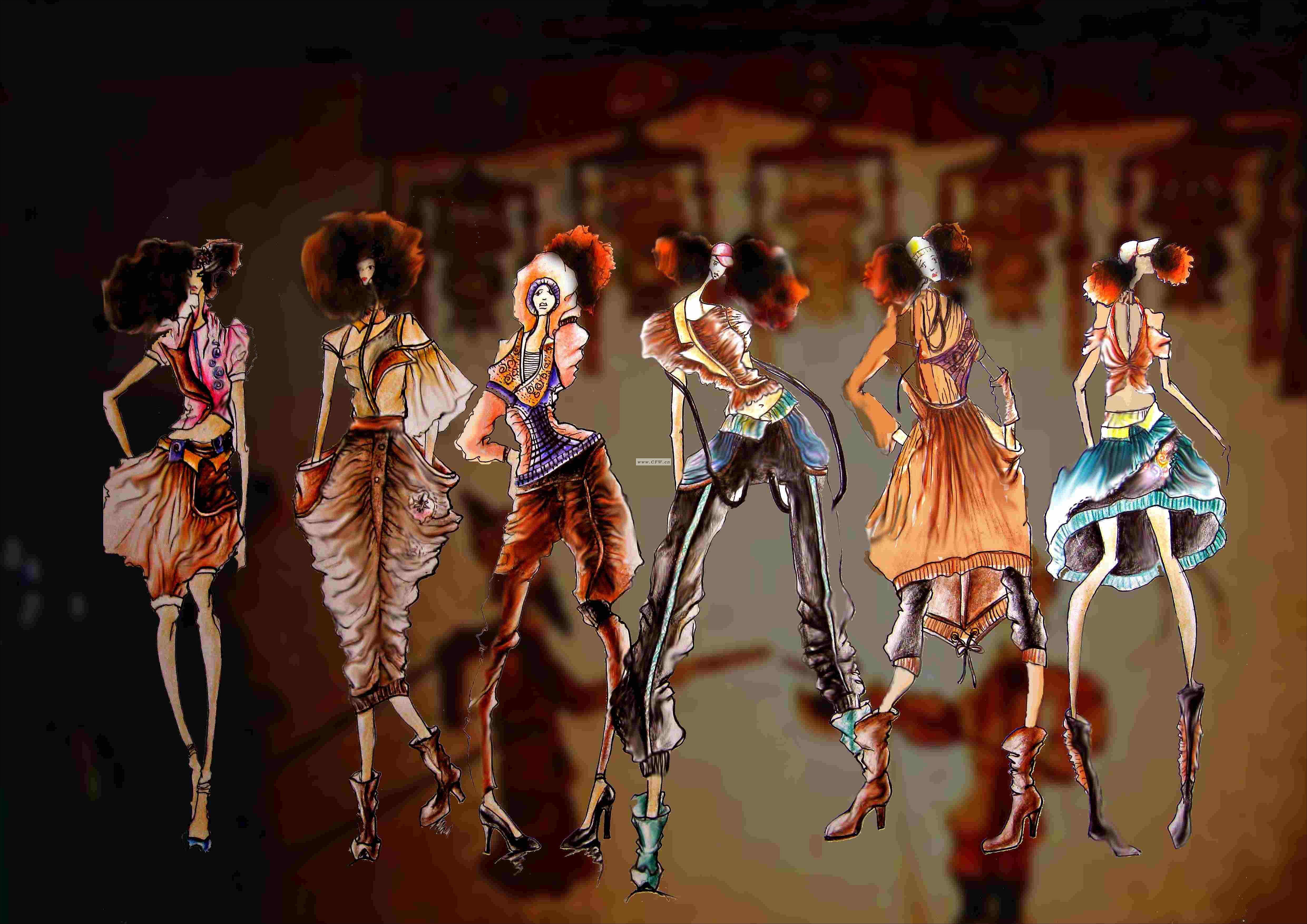 皮影戏-女装设计-服装设计