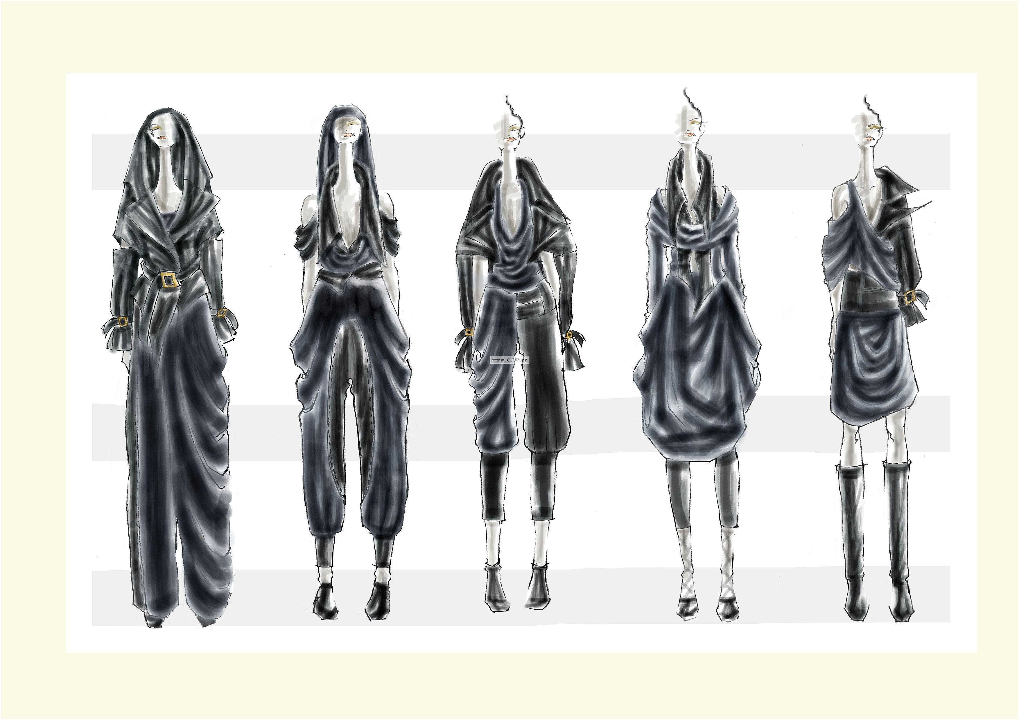 参赛作品-大赛作品设计-服装设计