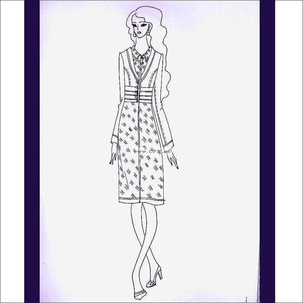 职业装,手绘设计草图-女装设计-服装设计