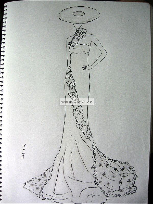 临摹婚纱-婚纱礼服设计-服装设计