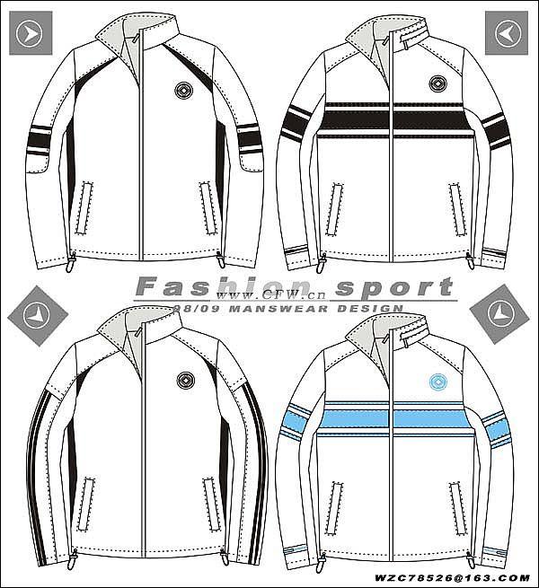 运动装效果图-男装设计-服装设计-服装设计网手机版