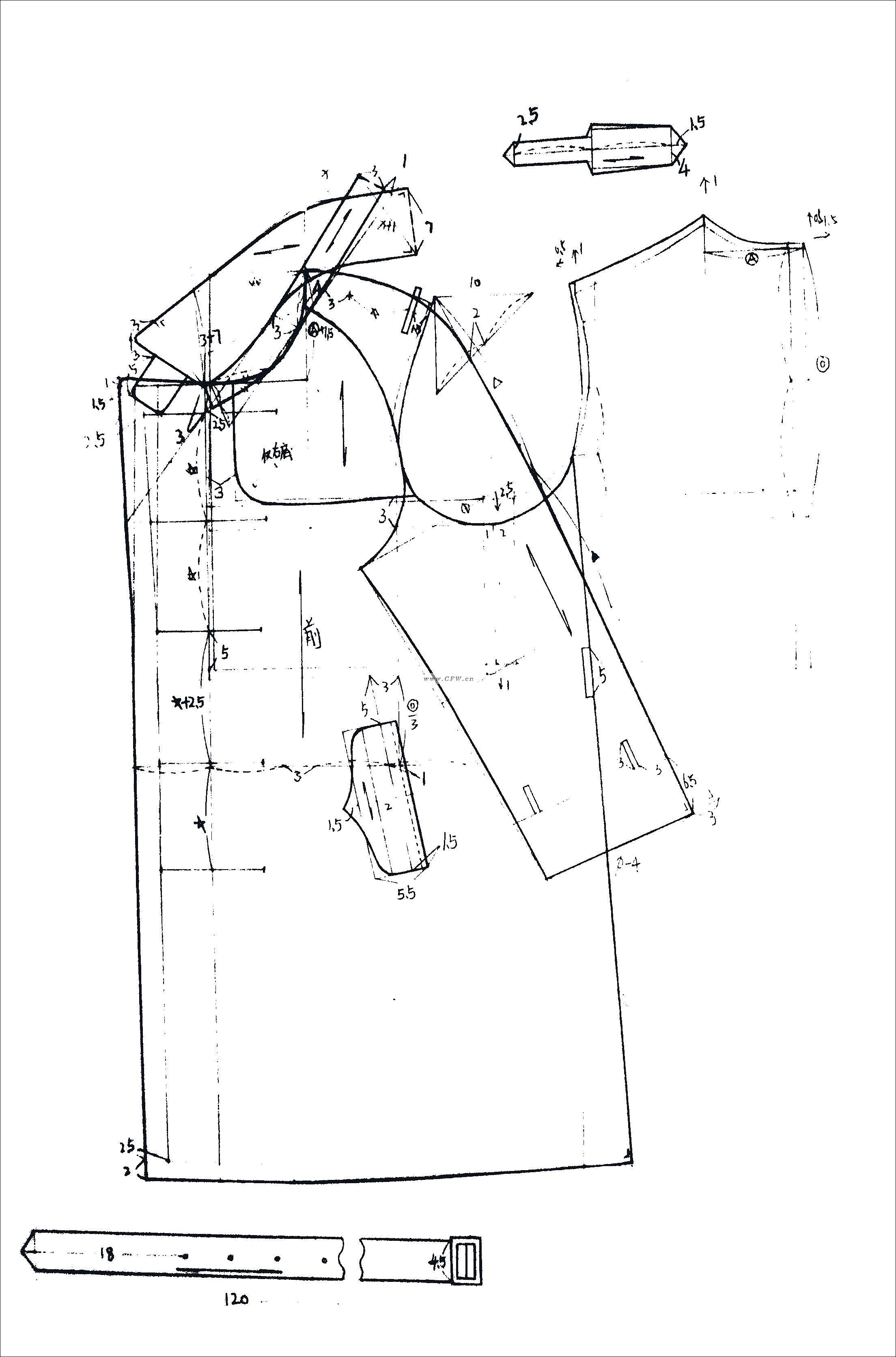结构图-男装设计-服装设计