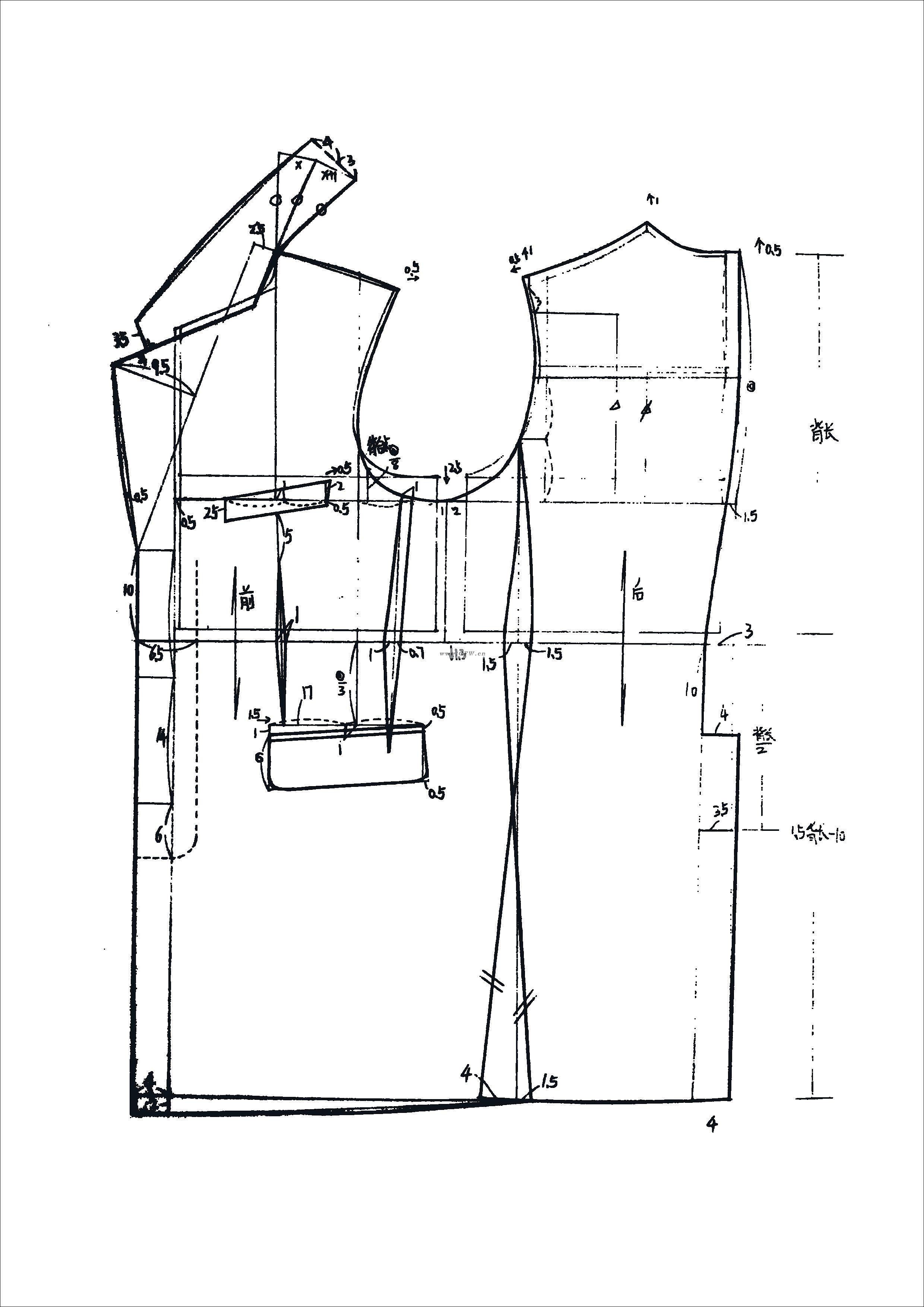 结构图(三)-男装设计-服装设计