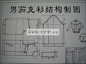 男夹克结构制图