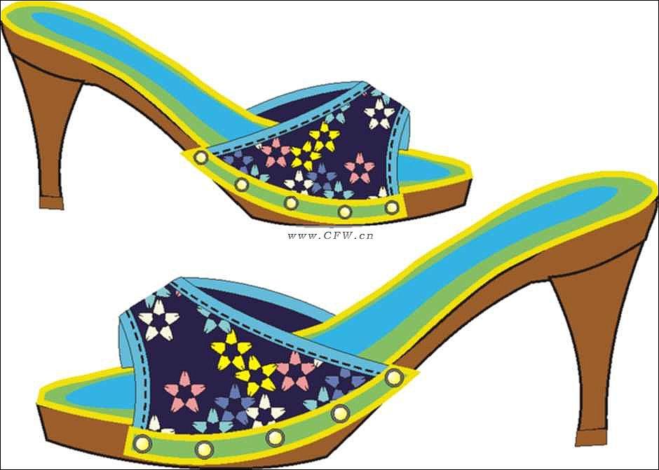 鞋子-鞋帽配饰设计-服装设计