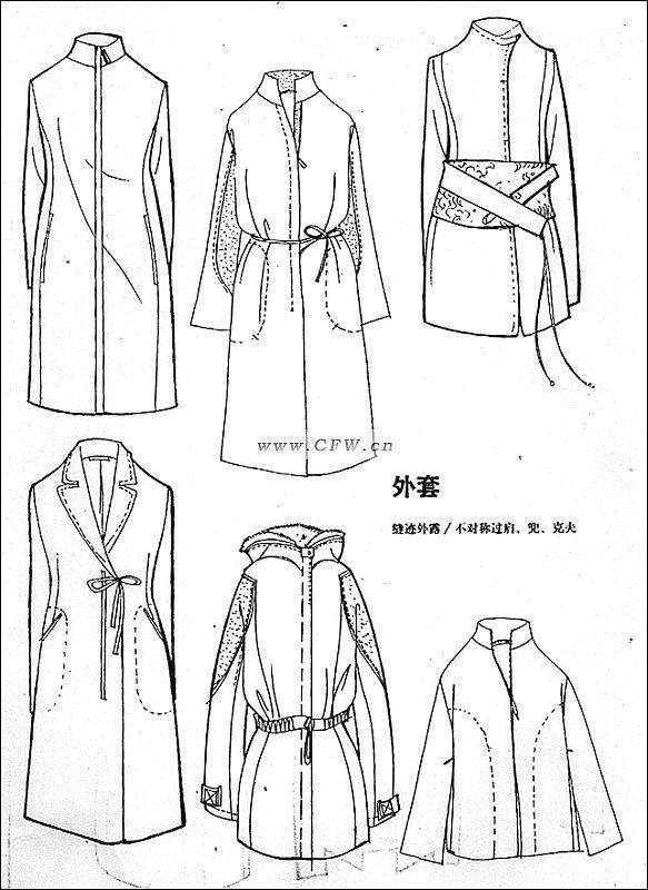 电脑绘制款式图-女装设计-服装设计