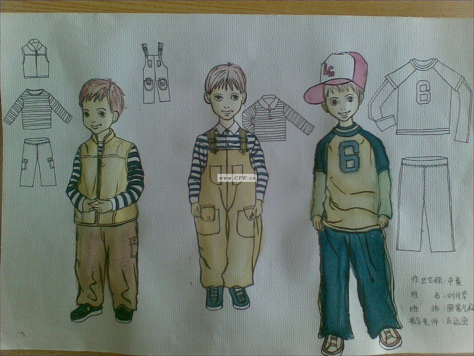 童装设计图手绘效果图展示