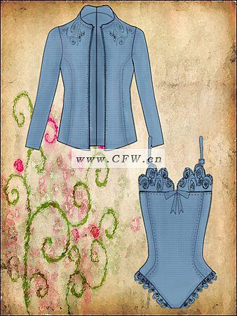 女装套装手稿-女装设计-服装设计