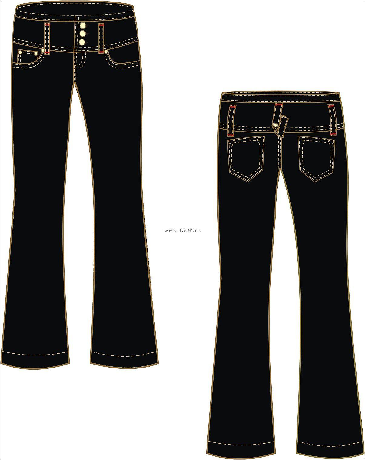 牛仔裤-女装设计-服装设计