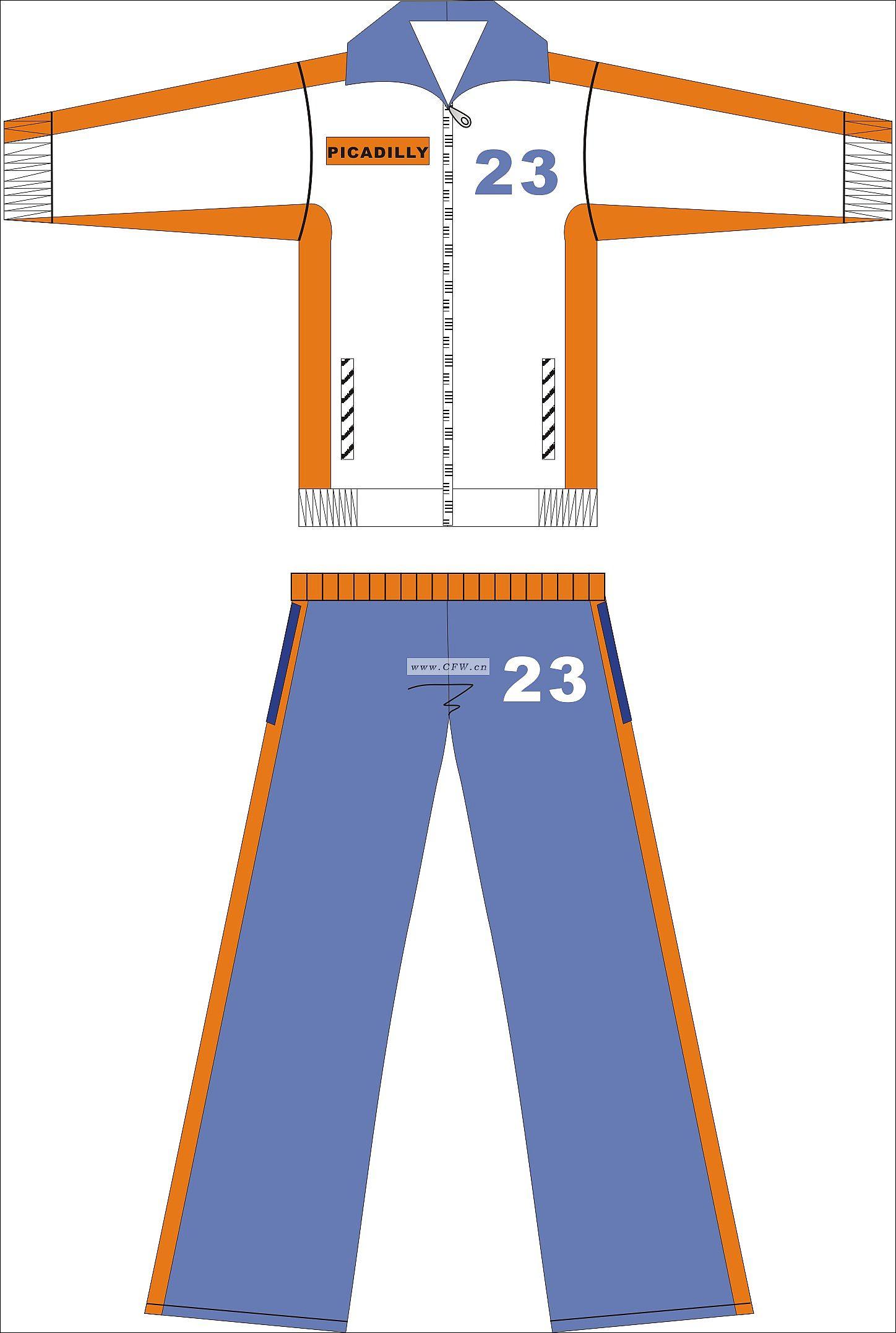 运动服作品-运动服款式图