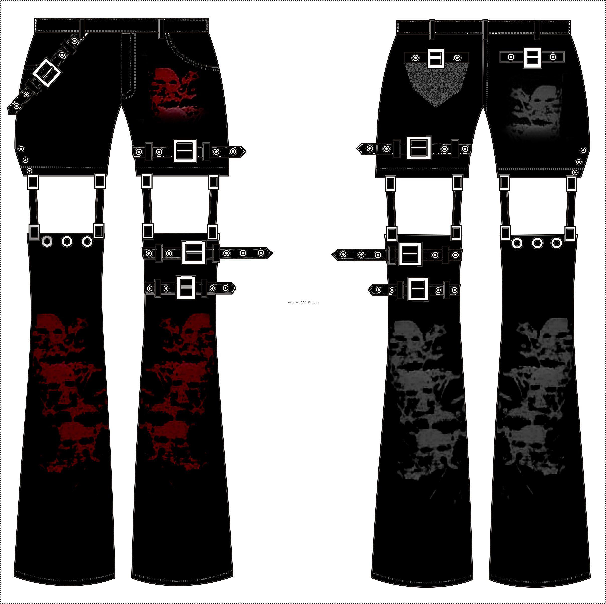 PUNK风格裤子