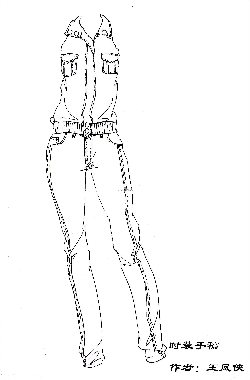 手绘时装-女装设计-服装设计