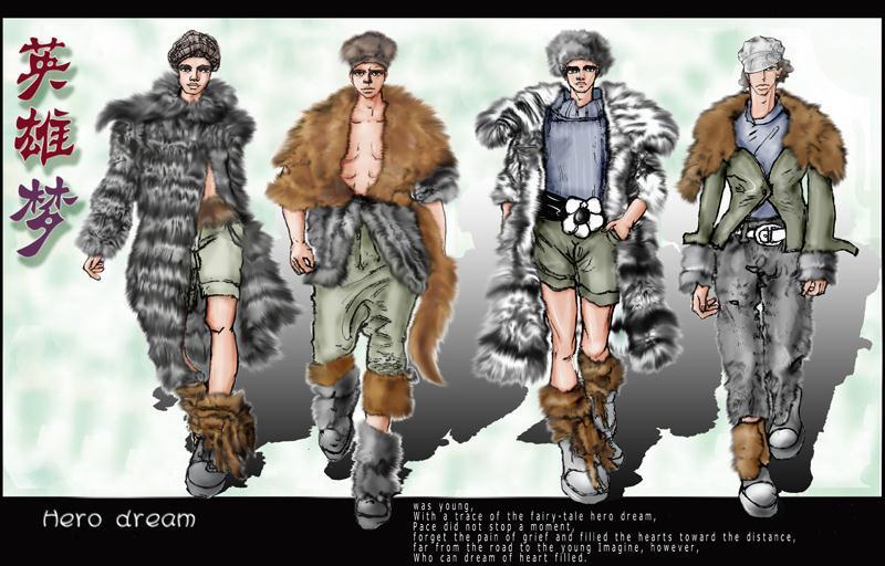 裘皮-大赛作品设计-服装设计