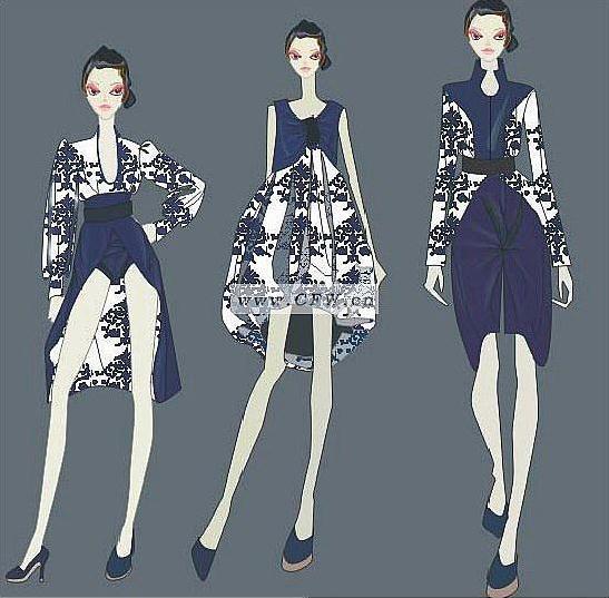 青花-女装设计-服装设计