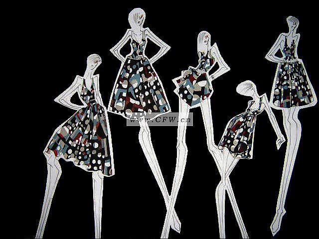 裙装效果图-女装设计-服装设计