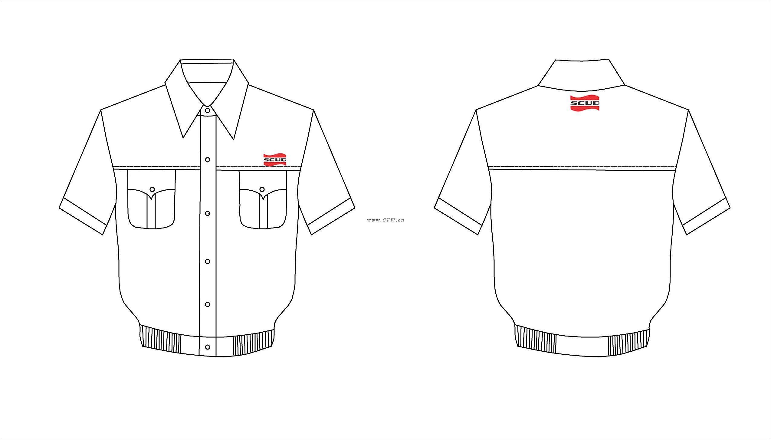 工作服-男装设计-服装设计