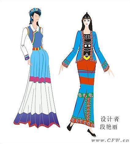 民族服饰-图案设计设计-服装设计