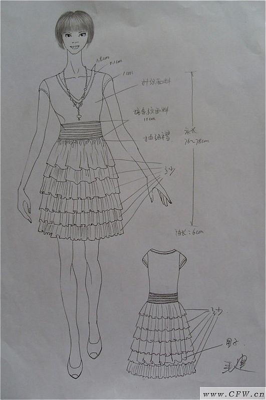 韩式婚纱 手绘设计图展示