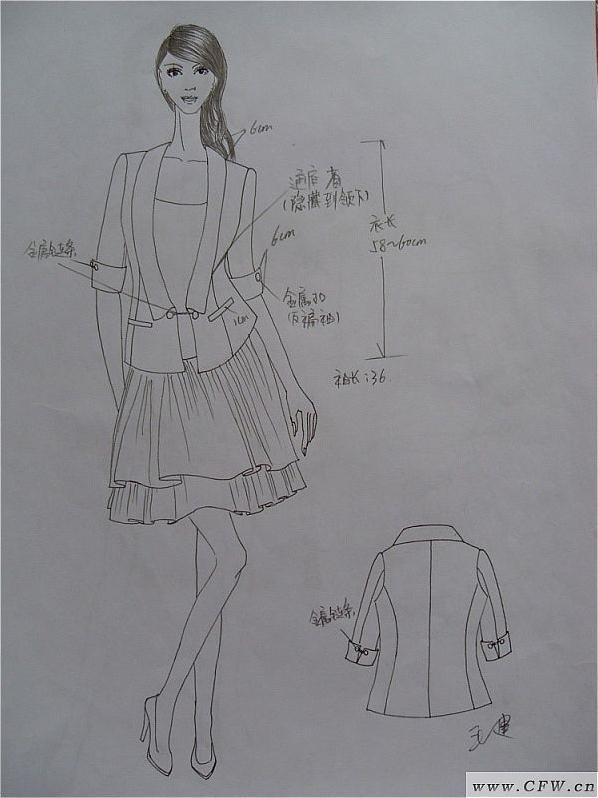 手绘设计图-女装设计-服装设计
