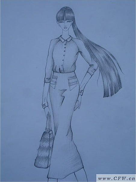 速写手稿-男装设计-服装设计