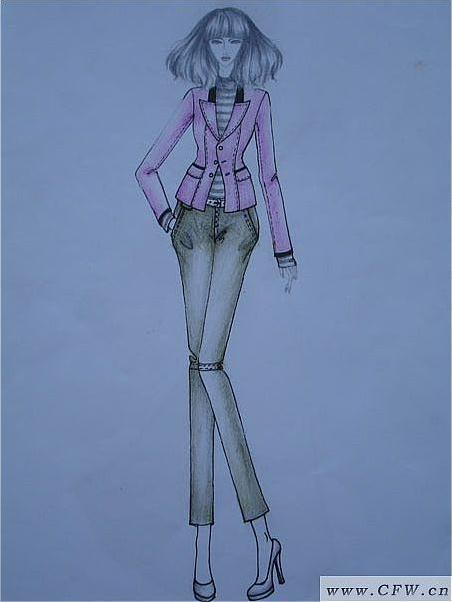 速写手稿-女装设计-服装设计
