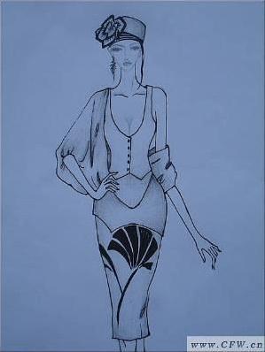 速写手稿-女装设计-服装设计-服装设计网手机版|触屏版