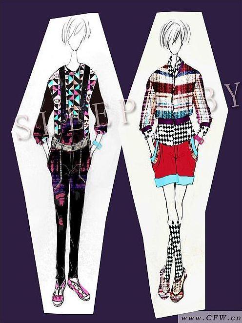 波普01-女装设计-服装设计
