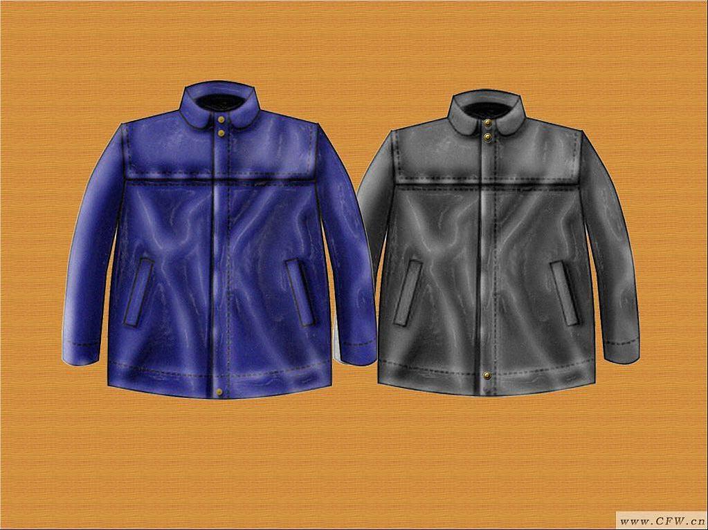 皮革 时尚-女装设计-服装设计