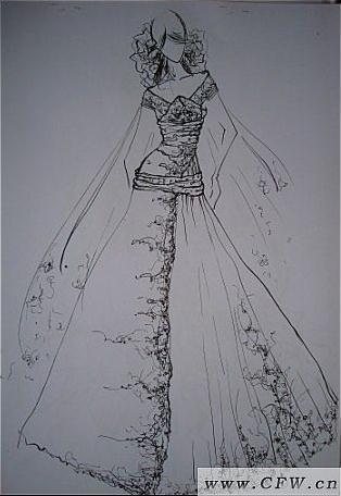效果图-婚纱礼服设计-服装设计