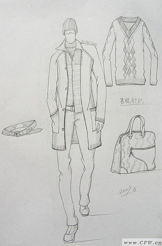 男装针织-毛衫针织设计-服装设计