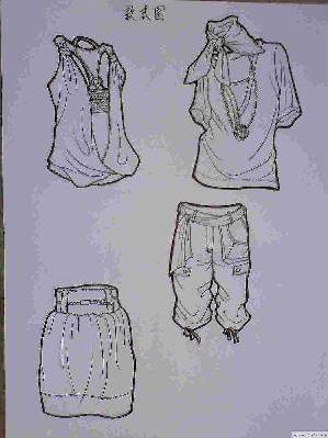 手绘黑白稿-图案设计设计-服装设计-服装设计网手机版