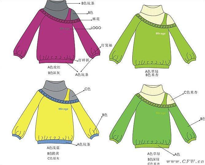 针织毛衣-童装设计-服装设计
