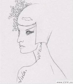 服装设计头发手绘图分享展示