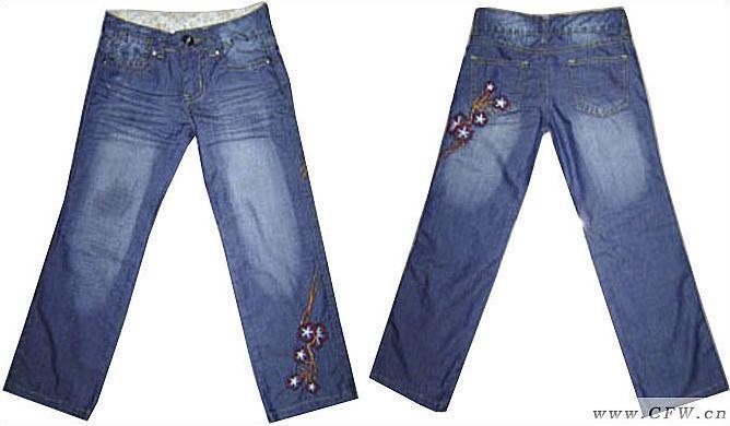 女童牛仔裤-童装设计-服装设计