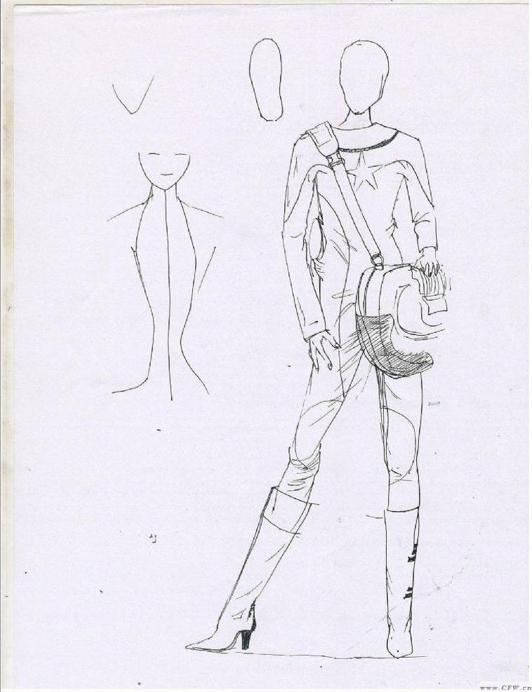 設計衣服草稿圖片簡單