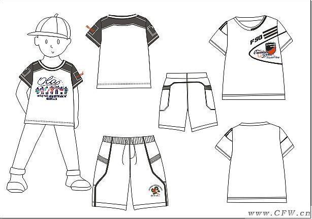 男童1-童装设计-服装设计