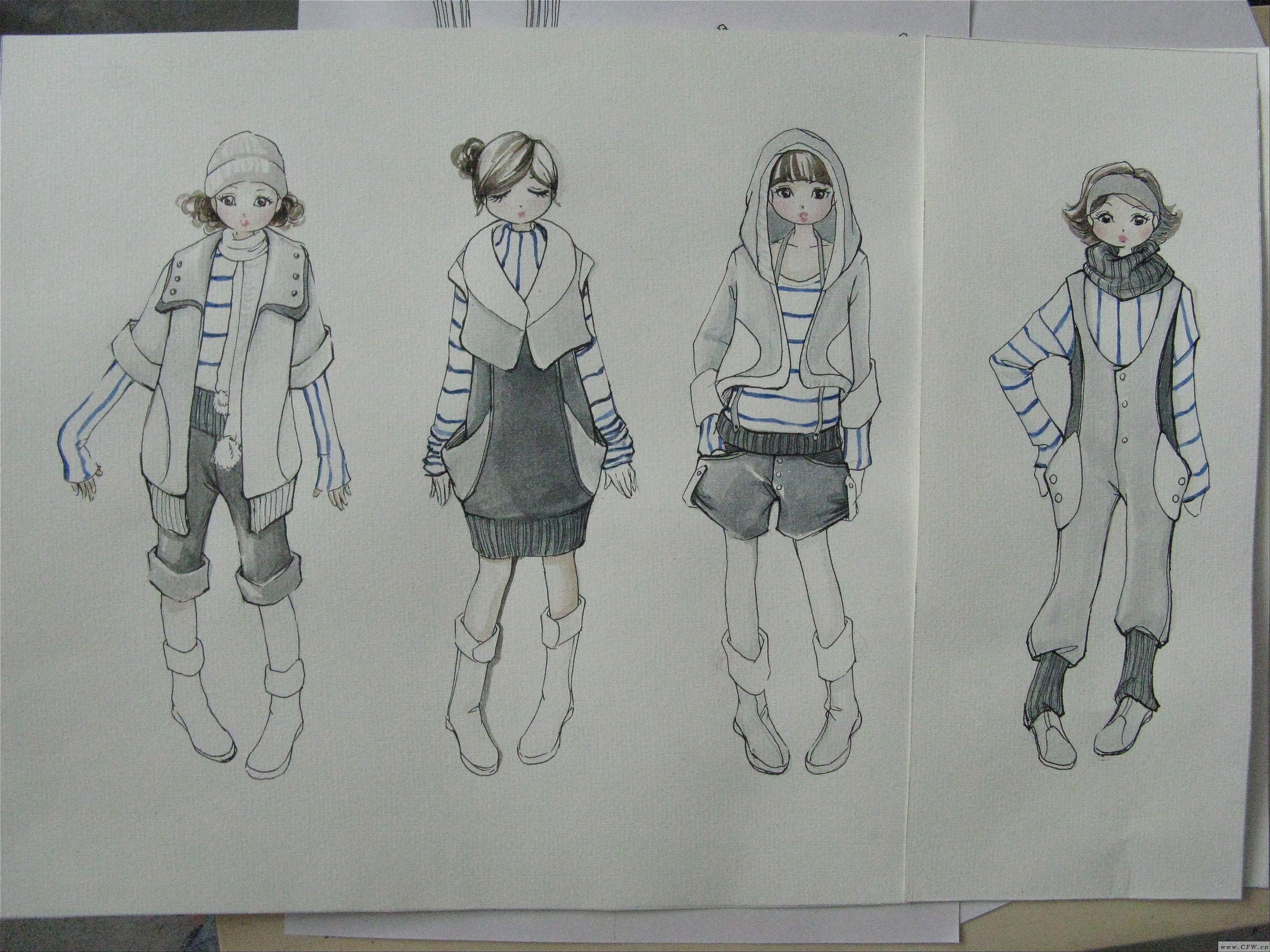 中华杯童装银奖效果图-大赛作品设计-服装设计