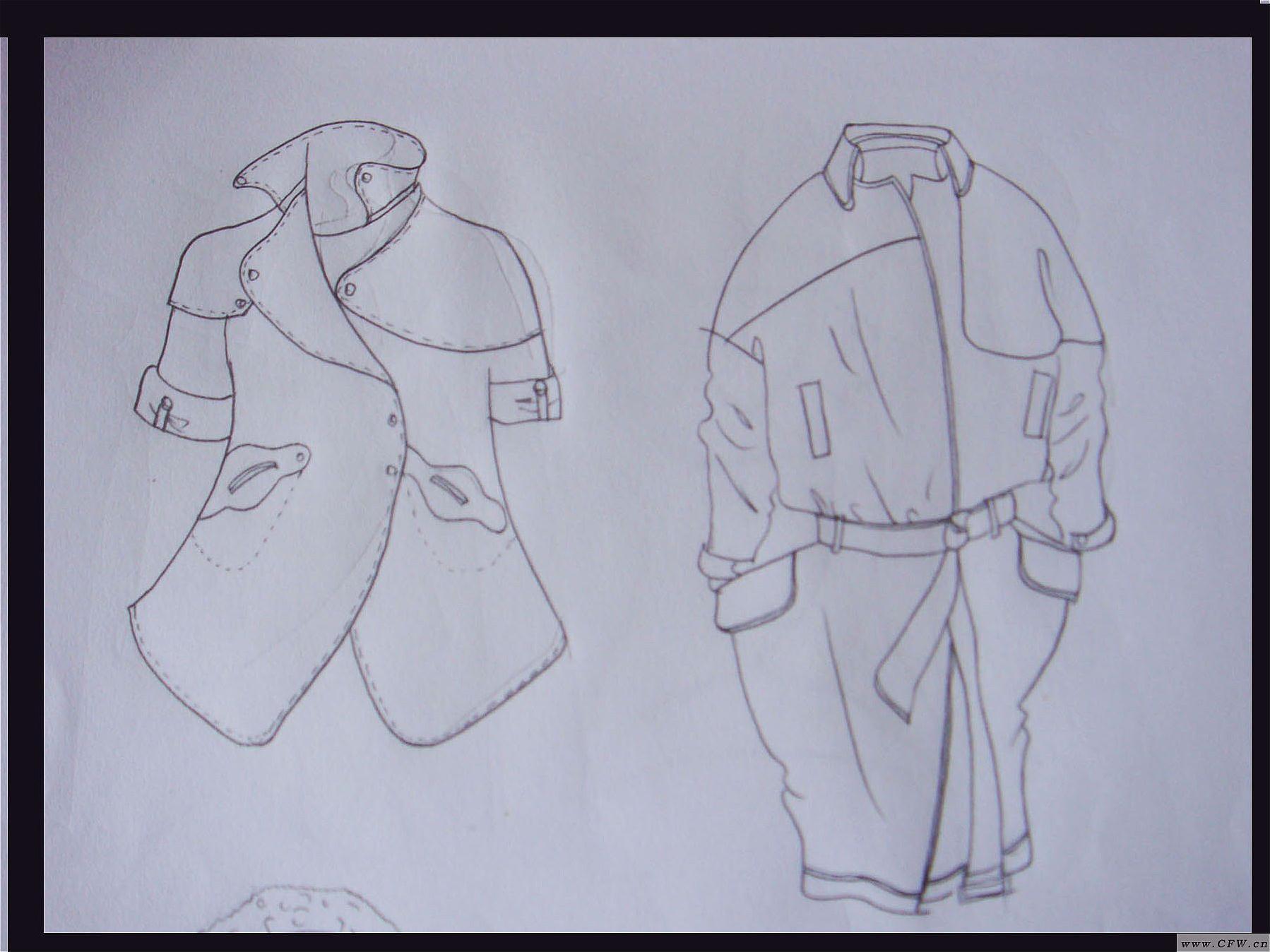 手绘女装款式图-女装设计-服装设计