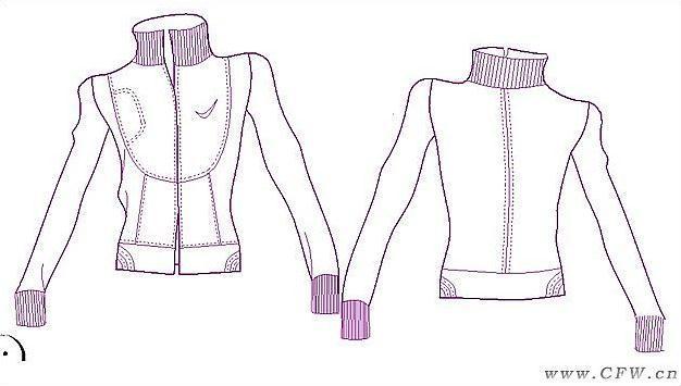 外套-女装设计-服装设计