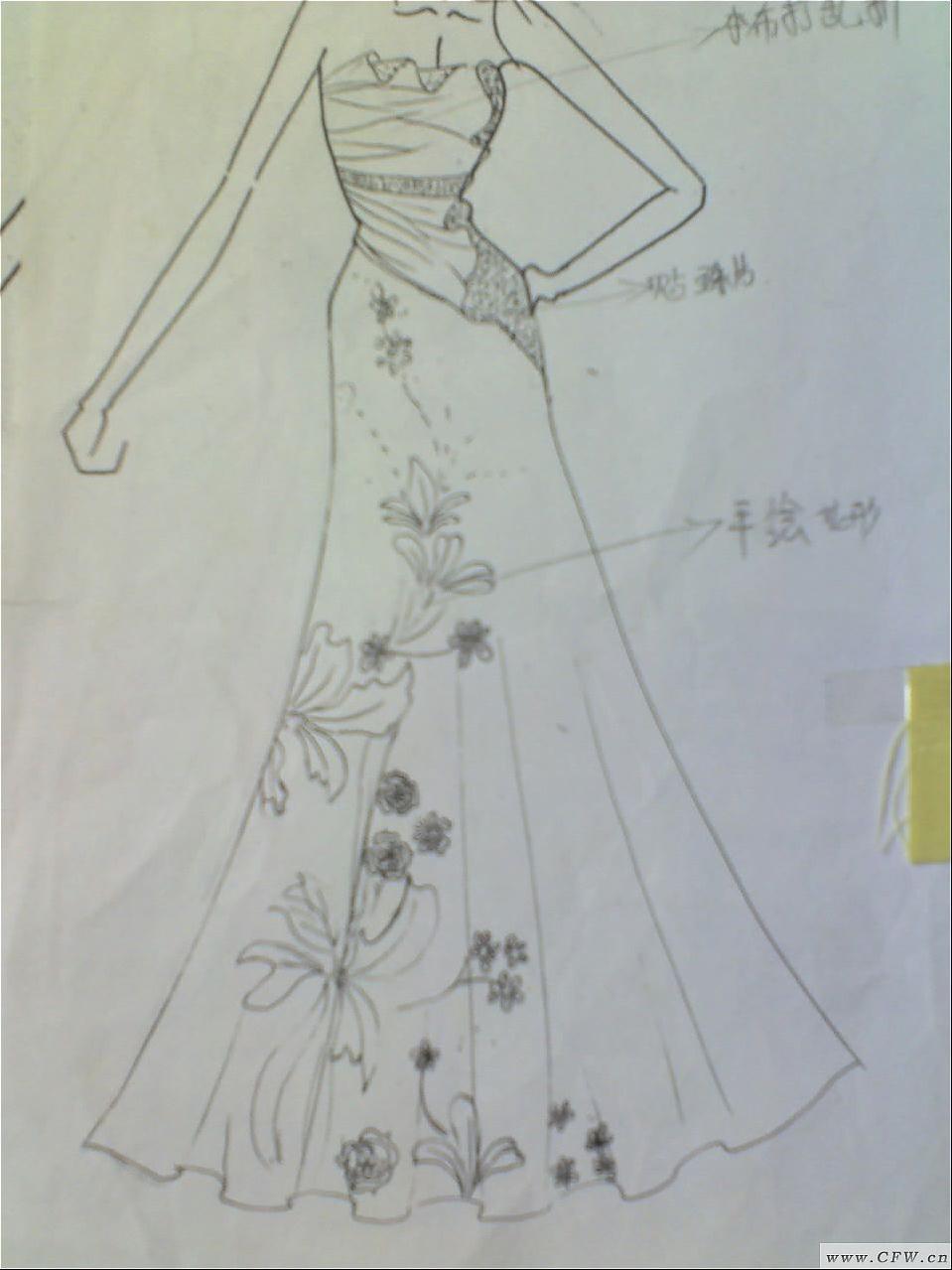 晚礼服与小礼服-婚纱礼服设计-服装设计