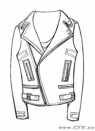 手绘服装款式图-女装设计-服装设计