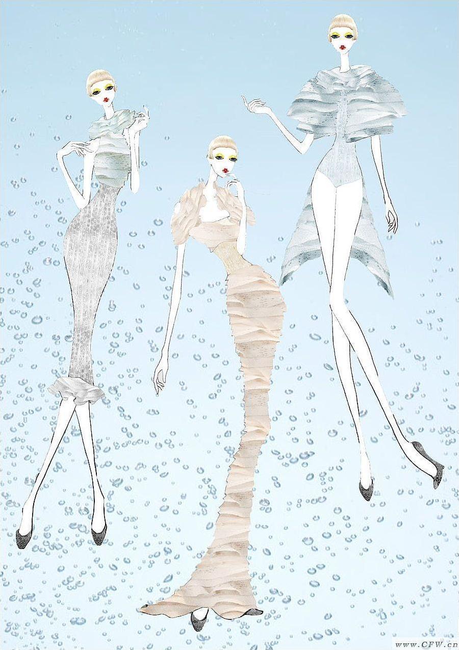 海洋-婚纱礼服设计-服装设计