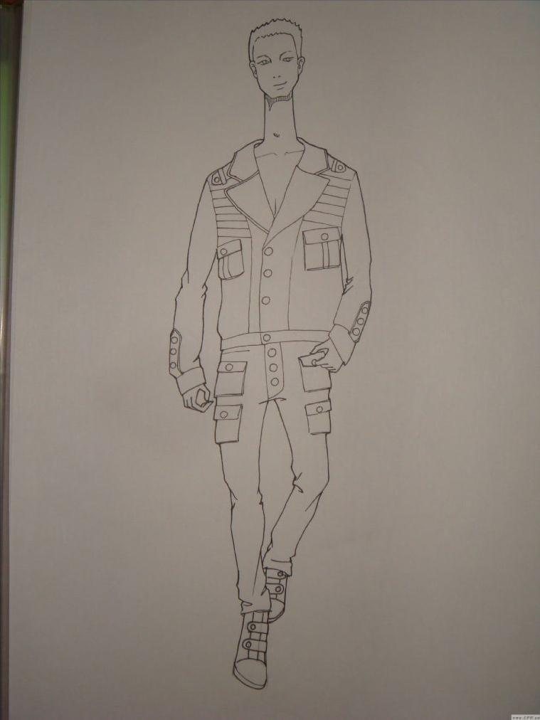 学生时代的手稿-男装设计-服装设计