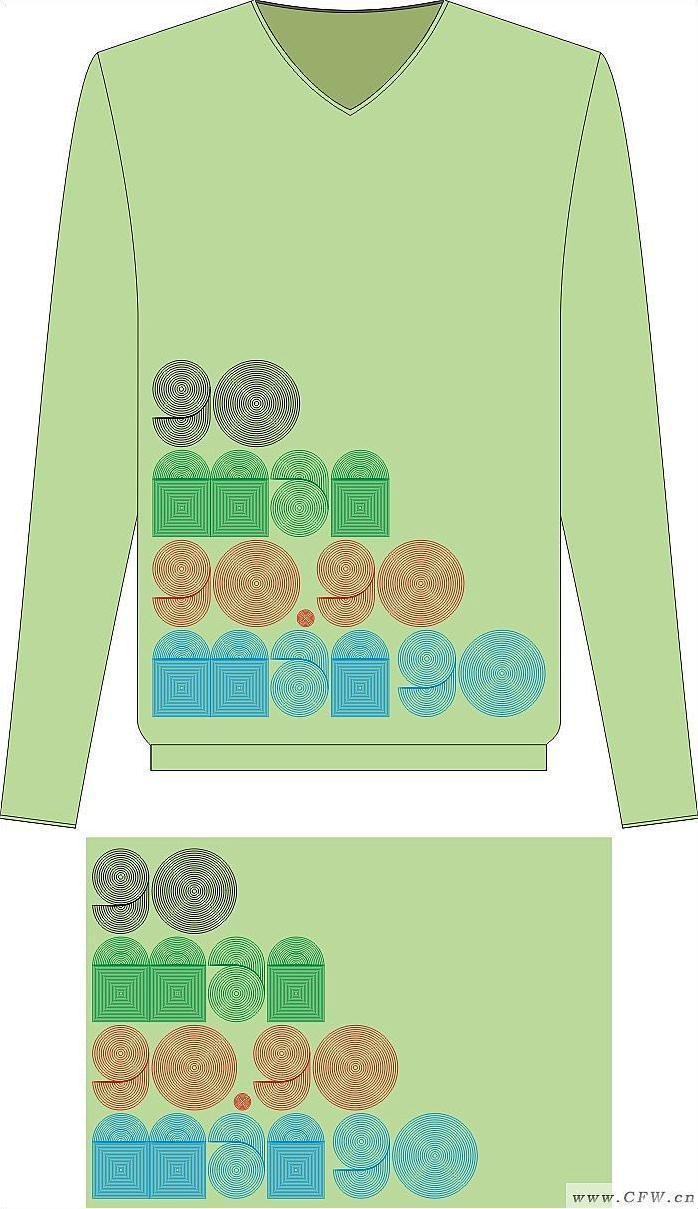 针织服装款式与图案设计作品-针织服装款式与图案设计款式图
