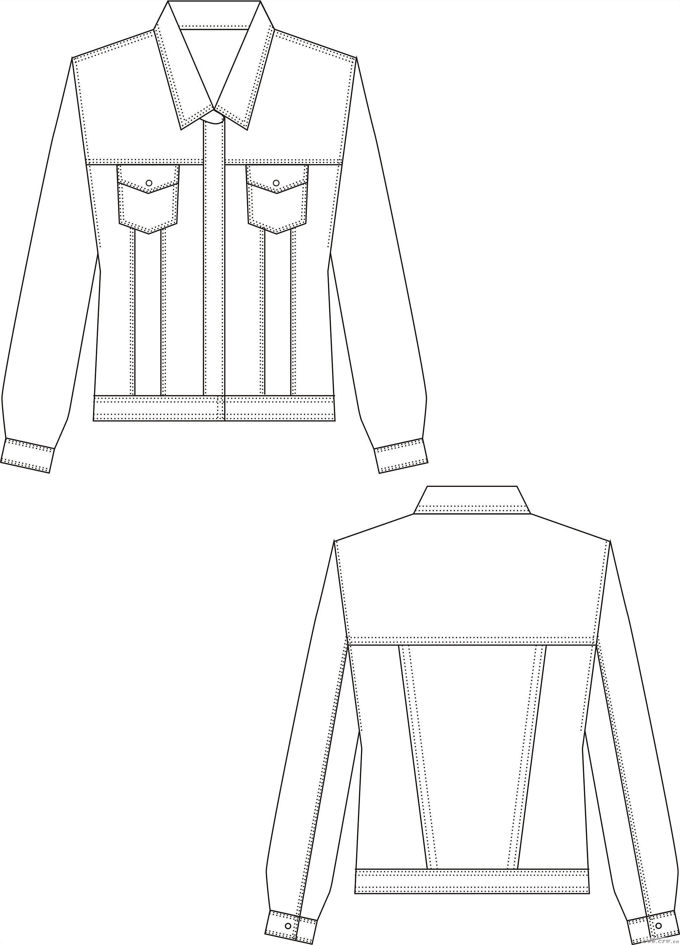 牛仔衣-男装设计-服装设计