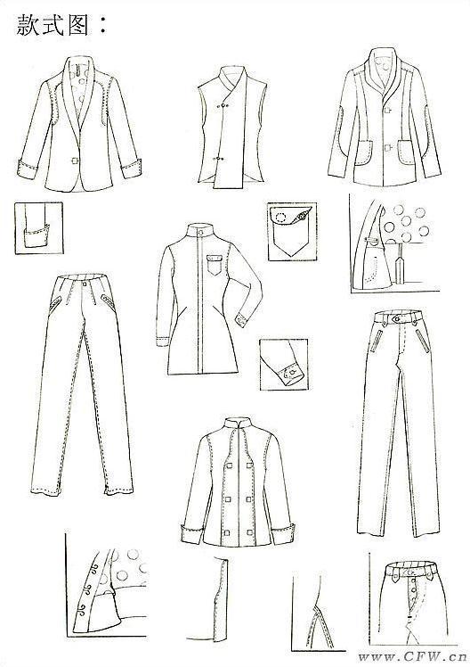 男装手稿作品-男装手稿款式图